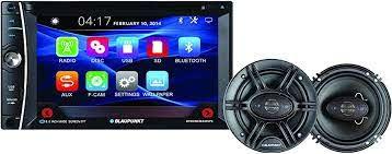 """Amazon.com: Blaupunkt 6.2"""", visualización táctil en el tablero receptor de  DVD con Blueooth y 6.5"""" altavoces de 360 W Bundle (bpddmem440spk):  Electronics"""